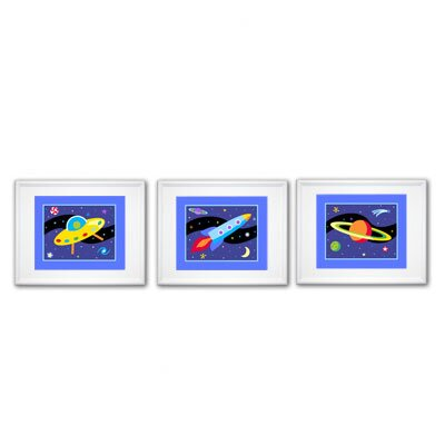 Olive Kids Out of This World Print with White Frame (Set of 3)