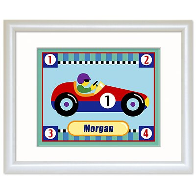 Olive Kids Vroom Personalized Print