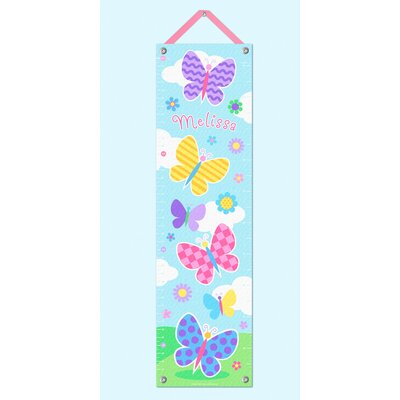Butterfly Garden Personalized Growth Chart