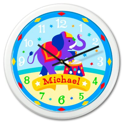 Olive Kids Big Top Personalized Clock with White Case