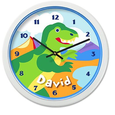 Olive Kids Dinosaur Land Pers Clock