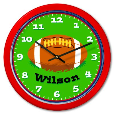 Olive Kids Football Personalized Clock