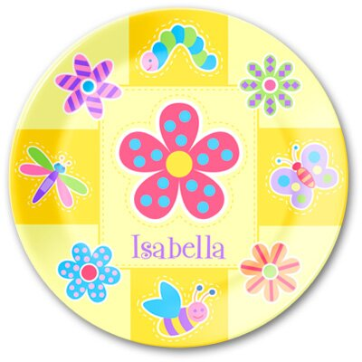 Olive Kids Flower Land Personalized Kids Plate