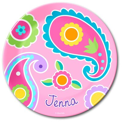 Olive Kids Paisley Personalized Kids Plate