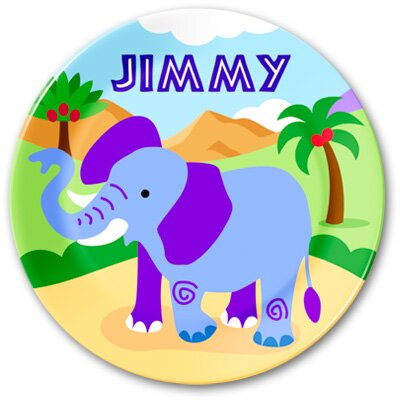 Olive Kids Wild Animals Personalized Kids Plate
