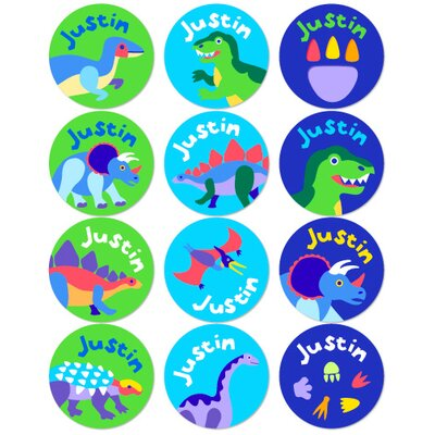 Olive Kids Dinosaur Land Personalized Stickers (Set of 60)