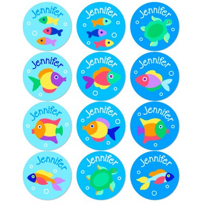 Something Fishy Personalized Stickers (Set of 60)