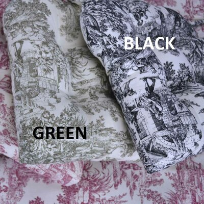 Victoria Park Toile Cushioned Chair Pad