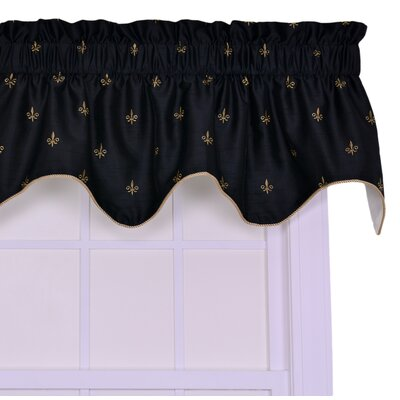Ellis Curtain Fleur Di Lis Filler Valance Window Curtain