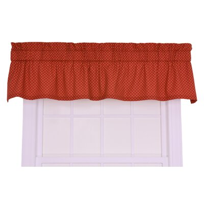 Ellis Curtain Tremblay / Tyvek Cotton Small Scale Diamond Valance Window Curtain