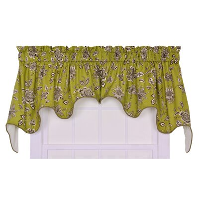 Ellis Curtain Jeanette Cotton Rod Pocket Lined Duchess Swag Valance Window Curtain