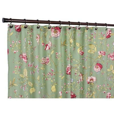 Coventry Polyester Medium Scale Floral Shower Curtain