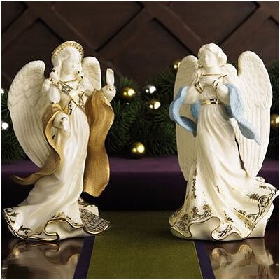 Lenox First Blessing Nativity 2-Piece Angels Set