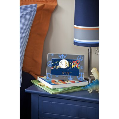 Zazoo Kids Photo Clock in Blue Peace