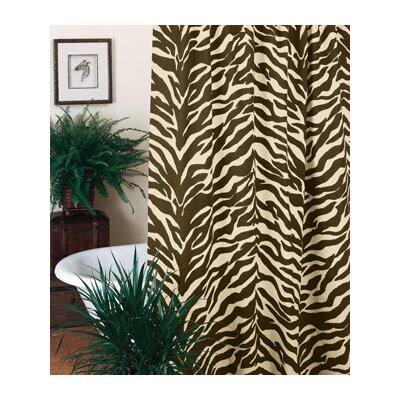Zebra Shower Curtain | Wayfair