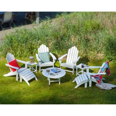 POLYWOOD® Long Island 9 Piece Conversation Adirondack  Seating Group