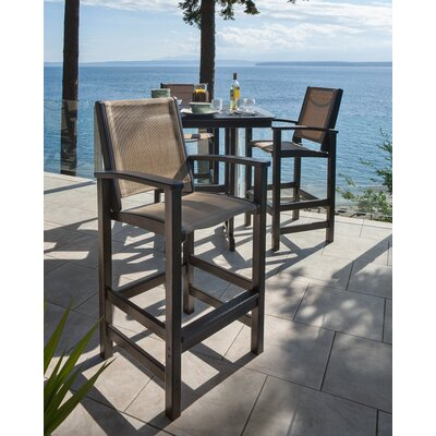 POLYWOOD® Coastal 5 Piece Bar Dining Set