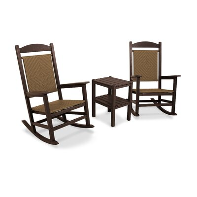 POLYWOOD® Presidential Woven 3 Piece Rocker Seating Group