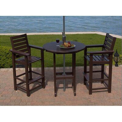 POLYWOOD® Captain 3 Piece Bar Height Dining Set