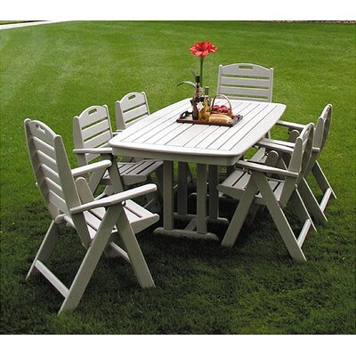POLYWOOD® Nautical Casual 7 Piece Dining Set