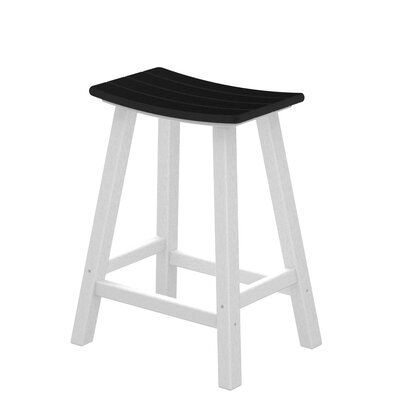 POLYWOOD® Contempo Saddle Bar Stool