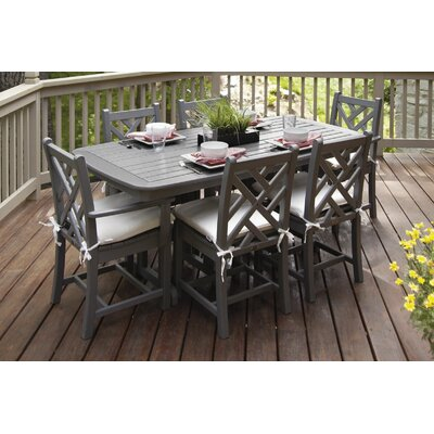 POLYWOOD® Chippendale 7 Piece Dining Set with Cushion