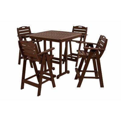 POLYWOOD® Nautical 5 Piece Bar Set