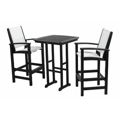 POLYWOOD® Coastal 3 Piece Bar Chair Set