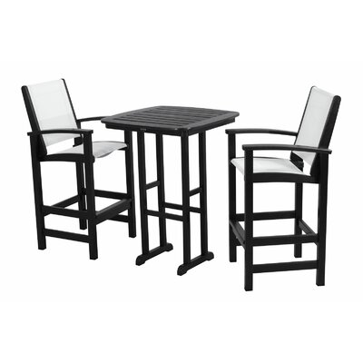 POLYWOOD® Coastal 3 Piece Bar Chair Set