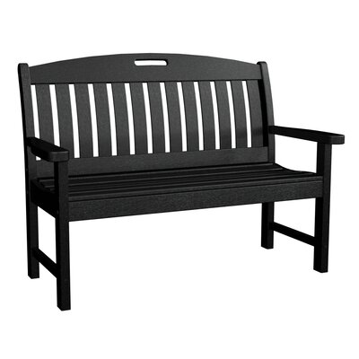 POLYWOOD® Nautical Plastic Garden Bench