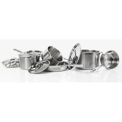 Tri-Ply Stainless Steel Cookware (Set of 10)