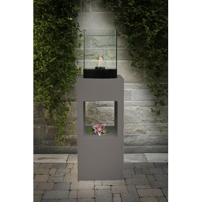 Decorpro Vertikal Bio Ethanol Fireplace Stand and Display Unit