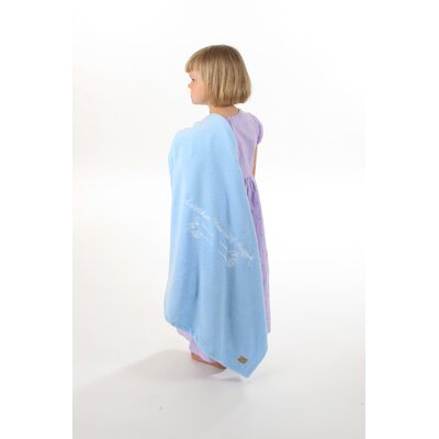 Consider Yourself Hugged Marshmallow Plush Blanket in Baby Blue with White Hug