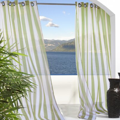 Commonwealth Home Fashions Outdoor Décor Escape Outdoor Stripe Grommet Top Curtain Single Panel