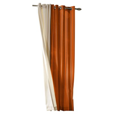 <strong>Commonwealth Home Fashions</strong> Outdoor Décor Gazebo Outdoor Stripe Grommet Top Curtain Single Panel
