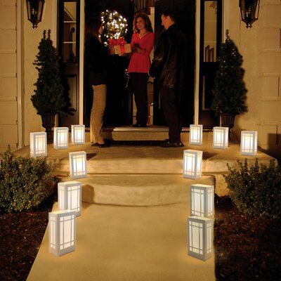Luminarias 12 Count Battery Operated Luminary Kit with Lantern Design