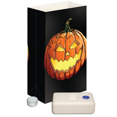 Luminarias Jack O' Lantern Candle Luminaria Kit (Set of 12)