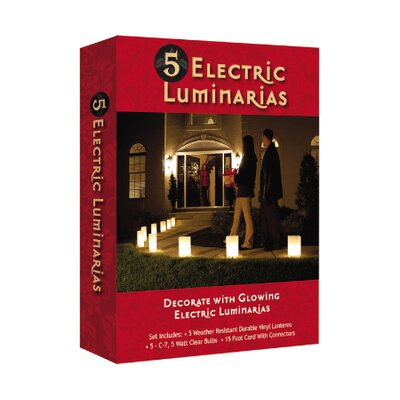 Luminarias Electric Kraft Paper Luminaries (Set of 5)