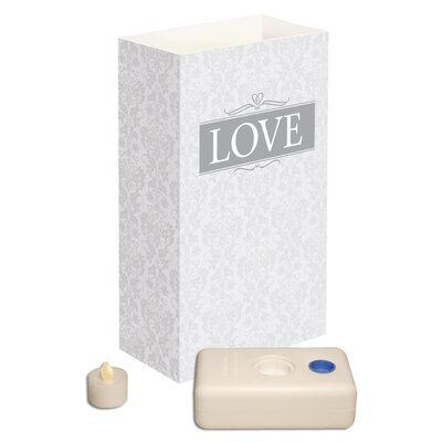 Luminarias Love Battery Operated Luminaria Kit (Set of 12)