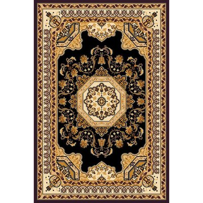 Kingdom Black Traditional Rug