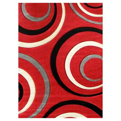 Studio 605 Red Geometric Design Rug