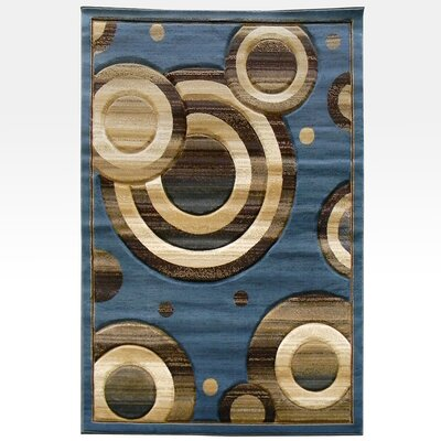 DonnieAnn Company Sculpture Blue Geometric Circle Rug