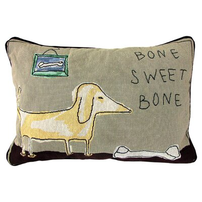 PB Paws & Co. Cotton Bone Sweet Bone Decorative Pillow