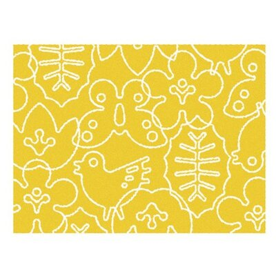 notNeutral Season White/Canary Yellow Kids Rug