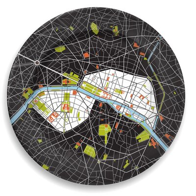 "notNeutral City On A Plate 12"" Paris Dinner Plate"