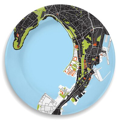 "notNeutral City On A Plate 12"" Mumbai (Bombay) Dinner Plate"