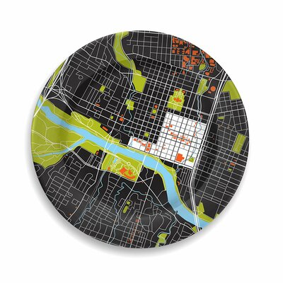 "notNeutral City On A Plate 12"" Austin Dinner Plate"