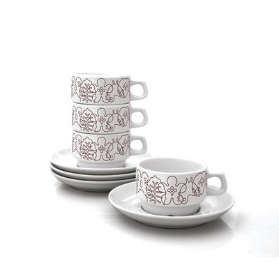 notNeutral Season Cups With Saucers Set (Set of 4)