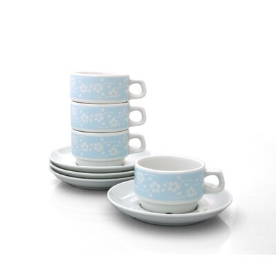 notNeutral Blue Flora Cup and Saucer Set