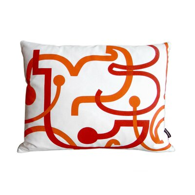 notNeutral Orange Letters Pillow
